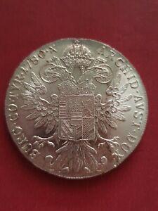 1780 Maria Theresa Thaler Restrike Silver Crown Size Coin (833 Silver)