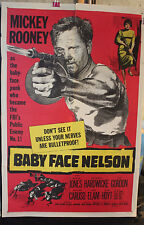 BABY FACE NELSON 1sh 1957 great art of Public Enemy No. 1 Mickey Rooney