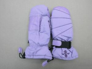 COLUMBIA SIZE XS(4-5) GIRLS PURPLE FLEECE LINED INSULATED WINTER MITTEN 3R