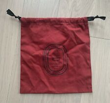 New Diptyque Candle Dust Red Cloth Bag Storage Collectible, Size: 9.5� x 10.5�