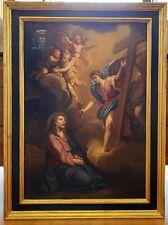 Antico dipinto religioso XVIII secolo '700 olio su tela scuola genovese