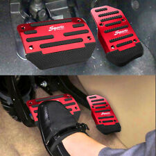 Red Non Slip Automatic Gas Brake Foot Pedal Pad Cover Auto Car Accessories Parts Fits Isuzu