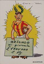 # SPORT - CALCIO anni '60 CARICATURALE QUANDO SI IMPORTAVANO GLI ORIUNDI ..