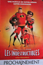 THE INDESTRUCTIBLES ORIGINAL FRENCH MOVIE POSTER DISNEY/PIXAR