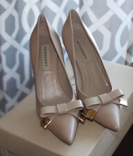BURBERRY LEATHER BOW RAYNESS 85 POINTED PUMP #7.5us $495