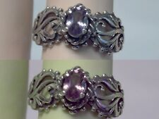 .50ct color change Alexandrite filigree antiqued 925 sterling silver ring size 7