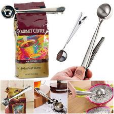1-cup caffè macinato Scoop Cucchiaio Misuratore con Clip di tenuta borsa in acciaio inox