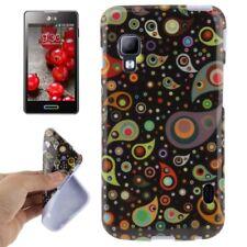 TPU Case für LG E460 Optimus L5 II bunte Wassertropfen Handyhülle Schutzcase