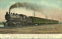 Empire State Express New York Central Railroad Train 1909 New York City Postcard