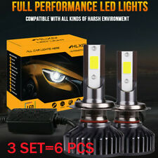 6X HLXG H7 LED Headlight Bulb Conversion High-power Kit High Low Beam Fog White