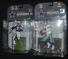 RB MARION BARBER & QB TONY ROMO Dallas Cowboys McFarlane NFL Action Figures MIP