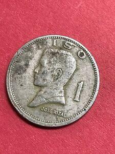 1972 Philippines 1 Piso Jose Rizal Republika Ng Pilipinas Coin     621