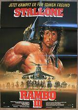 RAMBO 3 Affiche Cinéma ALLEMANDE / DEUTSCH Movie Poster SYLVESTER STALLONE