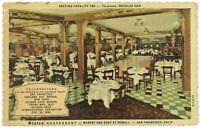States Restaurant Cafe Market Eddy Powell Inside San Francisco CA Cali Postcard