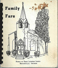 *MARTINSVILLE IN 1977 PRINCE OF PEACE LUTHERAN CHURCH COOK BOOK *FAMILY FARE