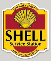 """SHELL SERVICE STATION AUTOMOBILIA VINTAGE DECAL 5"""" x 3.34"""" AMERICANA RRP £9"""