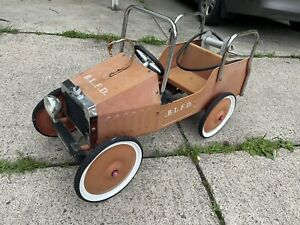 Vintage Buddy L Fire Engine Pedal Car