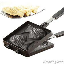 Fish Shaped Waffle Pan, Taiyaki Pan, Cake Pan, Korean Family Home Cooking Food