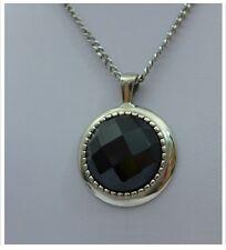Edelstahl Anhänger  Kristall schwarz, Charms, Halskette, Damenkette 1A Qualität
