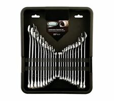 KAMASA 22 PIECE METRIC & AF IMPERIAL SPANNER WRENCH SET IN TOOL TRAY