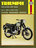 Haynes Workshop Manual TRIUMPH 350 & 500 Unit Twins T90 3TA 5TA T100 1958-1973