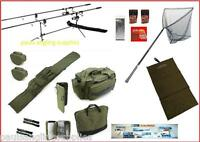 Carp Hunter Fishing Rod Pod//Rods//3BB BTR//Free Spool Reels//line//Bite Alarms//Net