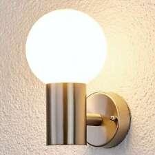 Außenwandleuchte Tomma Edelstahl Kugel Opal Lampenwelt Außenwandlampe E27