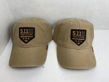 5.11 Tactical Hat - Lot of 2 - Tan 2016 Tactical Hat/Cap - Promotional Hat - NWT