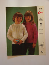 "Knitting Pattern Emu DK & 4 ply Child's Lacy Sweaters 20-29"" 6605"