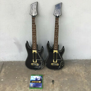 Guitar Hero Live Xbox One w/ 2 Guitars, 1 Dongles, and Game Tested