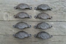 A set of 8 classic Victorian Kenrick cast iron drawer pull handles handle CH2