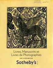 SOTHEBY'S LIVRES, MANUSCRITS ET LIVRES DE PHOTOGRAPHIES