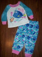 Toddler Girls Disney FINDING DORY Pajamas - Sz 4T - NEW NWT MSRP $30 - Aqua/Pink
