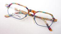 Brille Brillengestell Fassung eckig unisex kunterbunt flippig occhiali Grösse L