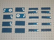 LEGO STAR WARS NavyBlue tiles 2431 87079 + Stickers / set 8086 Droid Tri-Fighter