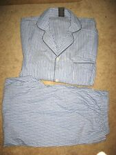 Mens Blue Striped HANES Pajamas Large