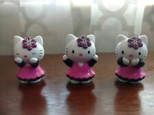 """ADORABLE Lot of 3 SEE HEAR SAY NO EVIL HELLO KITTY 2"""" Collectible Figurine set"""