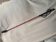 """Vintage Horse Riding Crop Whip Mountfort -Made In Britain- Red Black Leather 27"""""""