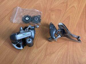 Shimano 600 Tricolor 8 speed Front and Rear Derailleur with Upgraded Pulleys
