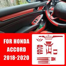 Carbon Fiber Red Car Interior Decor Kits Trim Sticker For Honda Accord 2018 2020