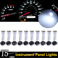 10x T5 PC74 37 Twist Socket Instrument Cluster White Dashboard Led Light Bulbs