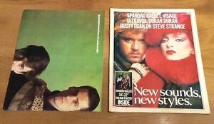 Very Rare New Sounds New Styles Magazine 1980's Spandau Ballet Bowie With Poster