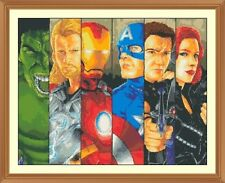 Avengers Cross Stitch Chart 9.3 X 12.0 Inches