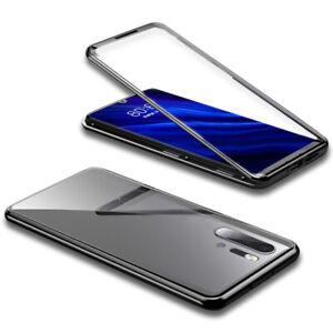 Magnet Bumper Case for Huawei P30 Pro P30 lite P30 Glass Silicone Aluminum Metal