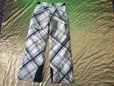 Columbia Ski Pants Girl Size 11/12 Pre-Owned Yellow, Grey & White