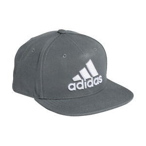 adidas Snapback Cap Grau Logo Schirmmütze Basecap Cappi Baseballcap Mütze Hut