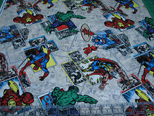 1 Yard Quilt Cotton Fabric- Springs Marvel Avengers Ironman Retro Comic Action