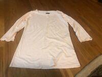 MAJESTIC PARIS Light pink 3/4 Sleeve Superwashed Shirt Size 3