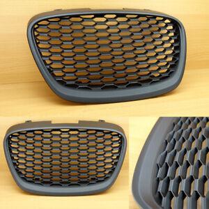 New For SEAT LEON MK2 1P 2009 - 2012 Front Bumper Center Grille Matte Black LCI