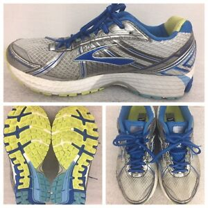 Brooks Adrenaline GTS 15 Womens Size 9.5 B Running Shoes White Blue Silver